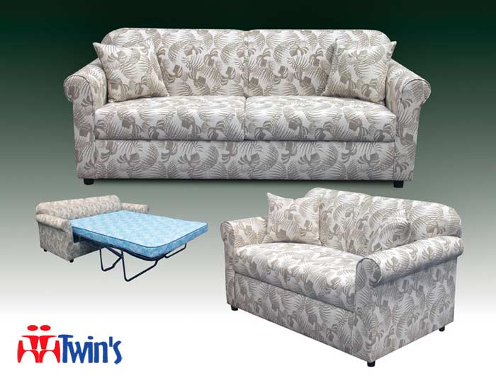 T - 3070 Sofa, Chaise Sectional with Optional Sleeper Mattress, Chair and Ottoman