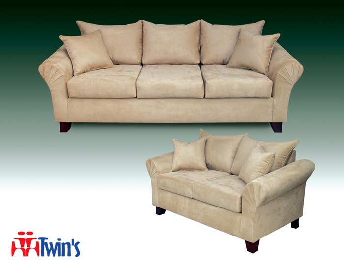 T - 4015 Sofa, Love Seat and Ottoman