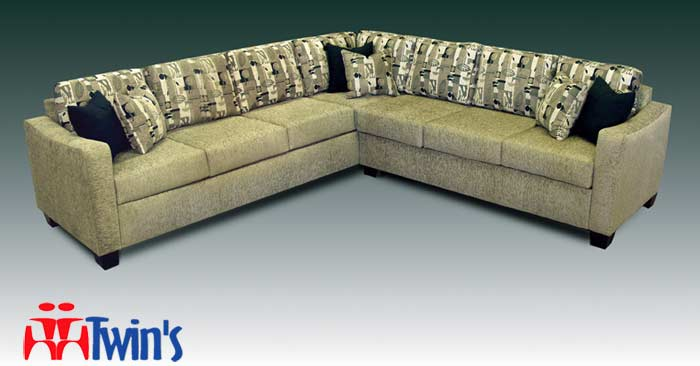 T - 4075 Sofa, Love Seat, Chair, and Ottoman L - Shape Sectional