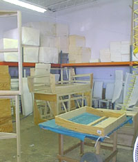 Furniture in the processof assembly